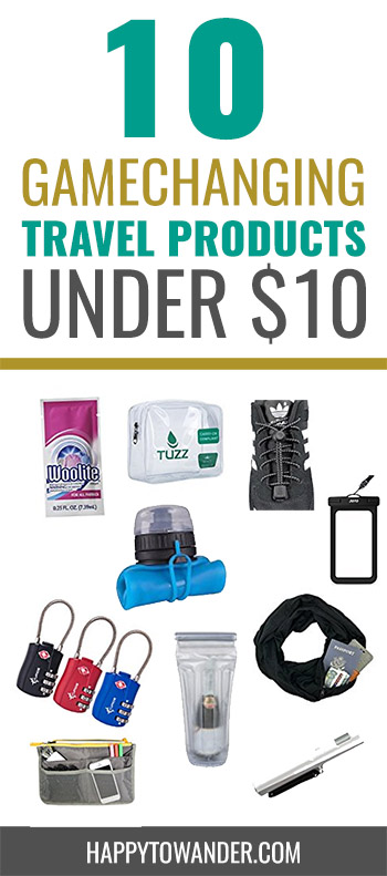 Awesome travel products you can score for less than $10! #traveltips #travel