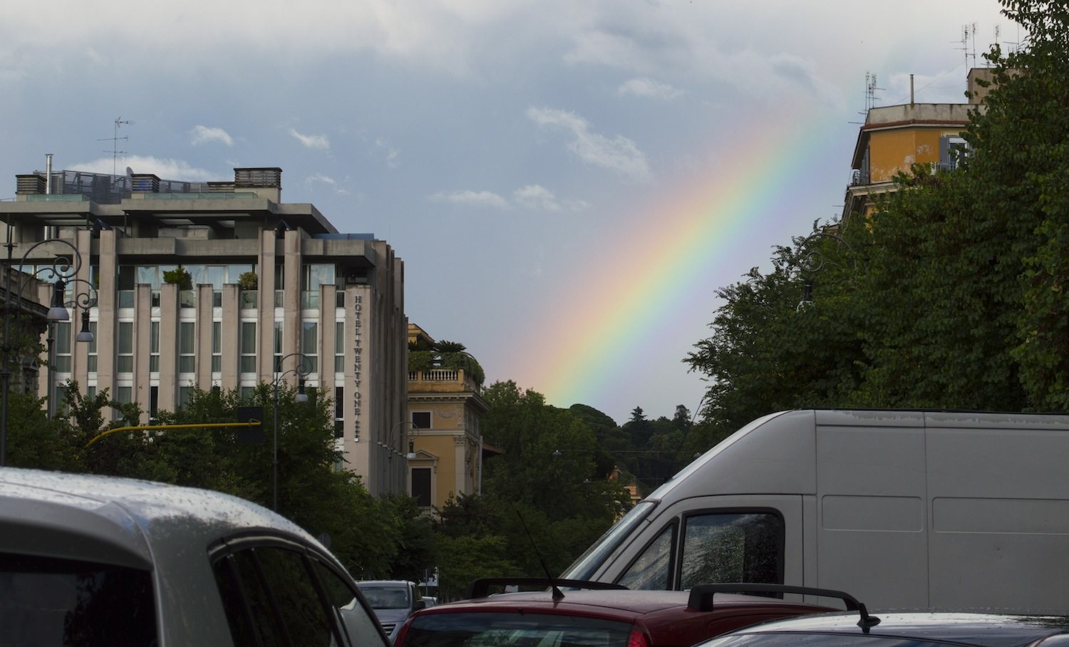 Rainbow in Rome by Christina Guan