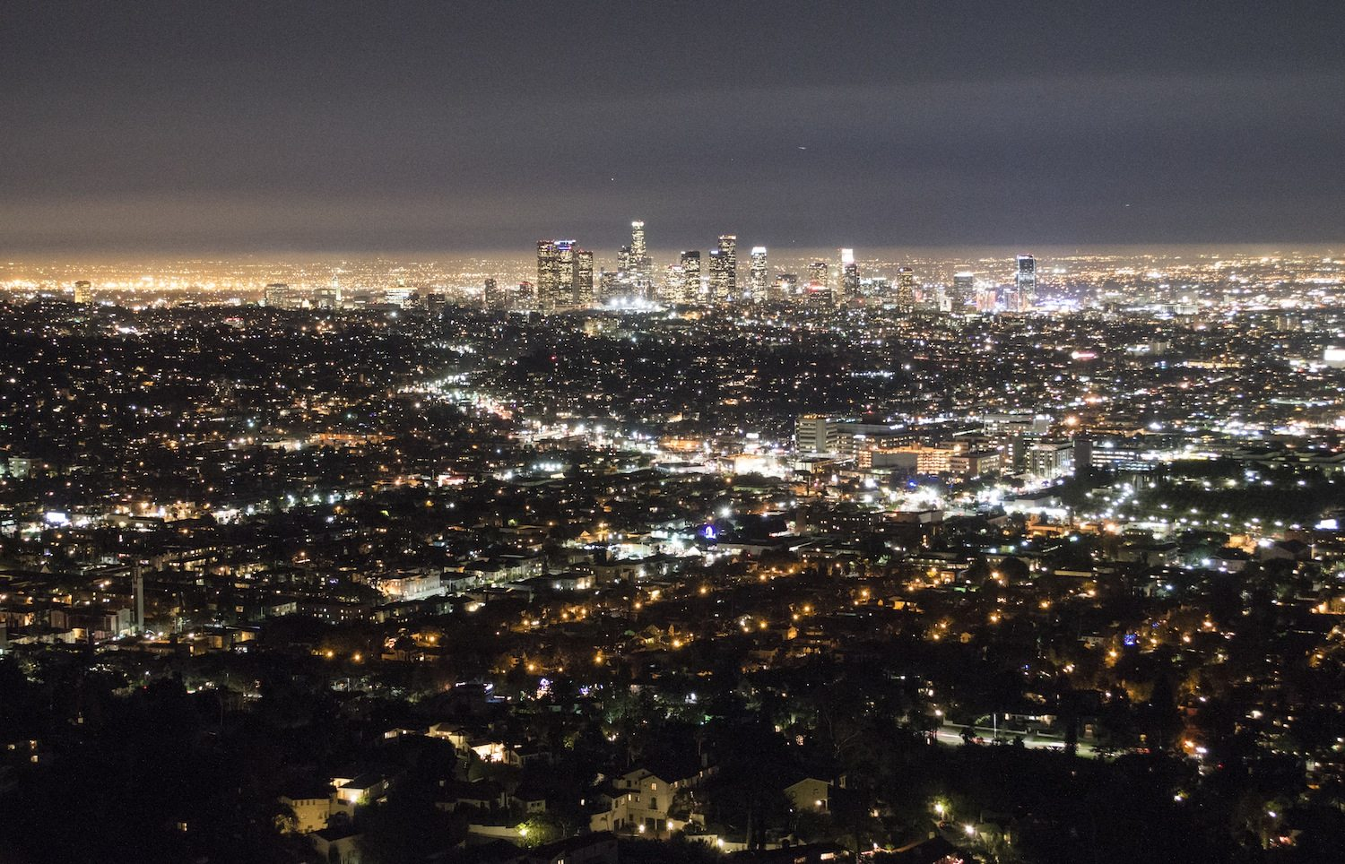 Griffith Observatory view by Christina Guan