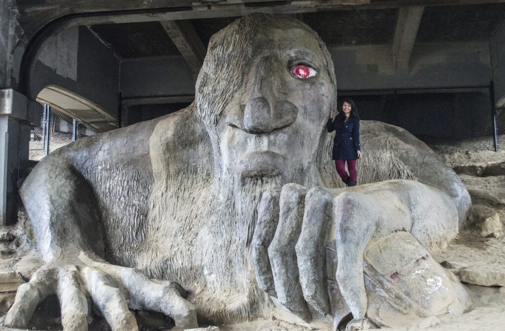 Fremont Troll in Seattle by Christina Guan