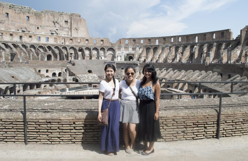 Christina Guan and friends, Roman Colliseum