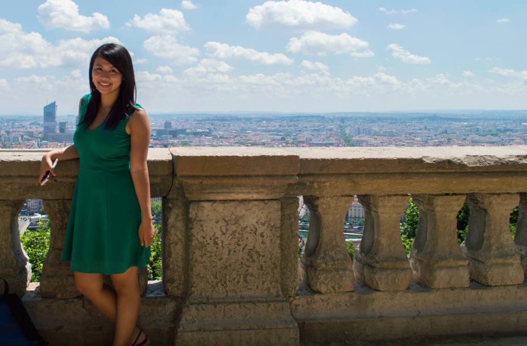 Standing high above Lyon after a spontaneous hike!