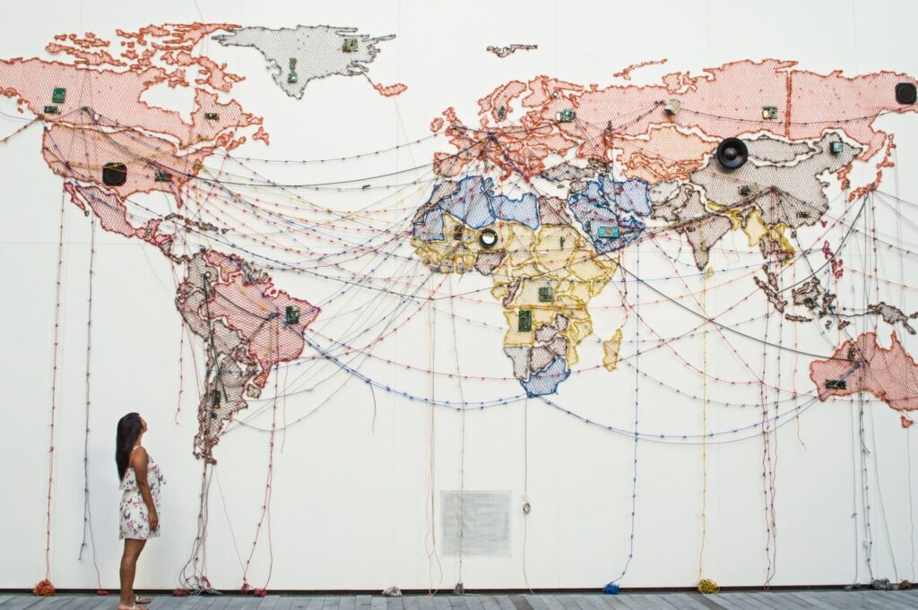 Christina Guan World Map Installation