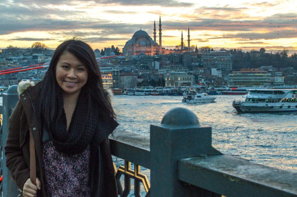 Christina Guan in Istanbul