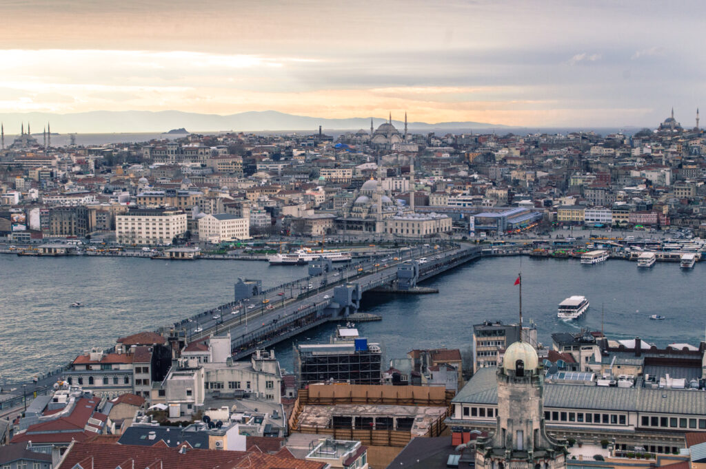 Istanbul view from Galata Tower by Christina Guan