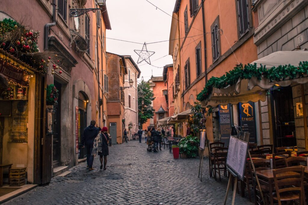 The adorable Trastavere neighborhood