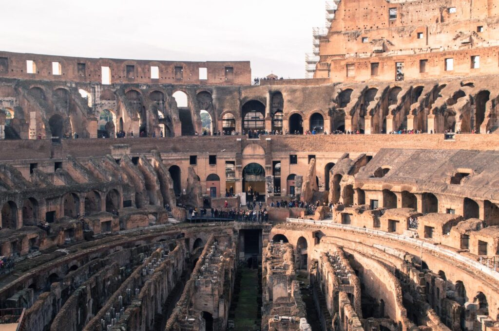 the inside of the epic Coliseum.