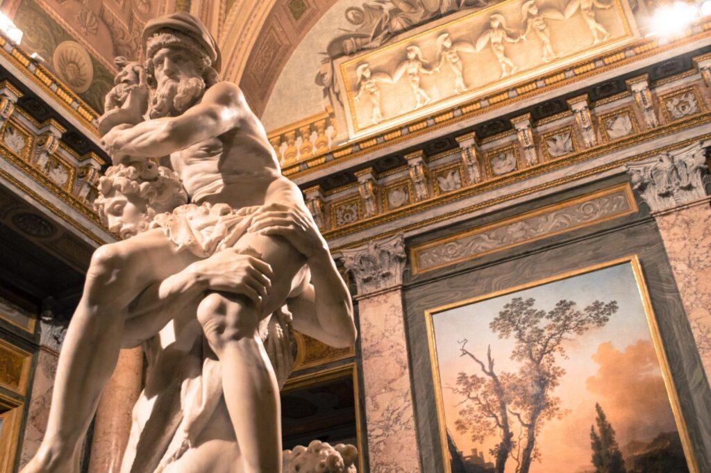 Inside the Galleria Borghese