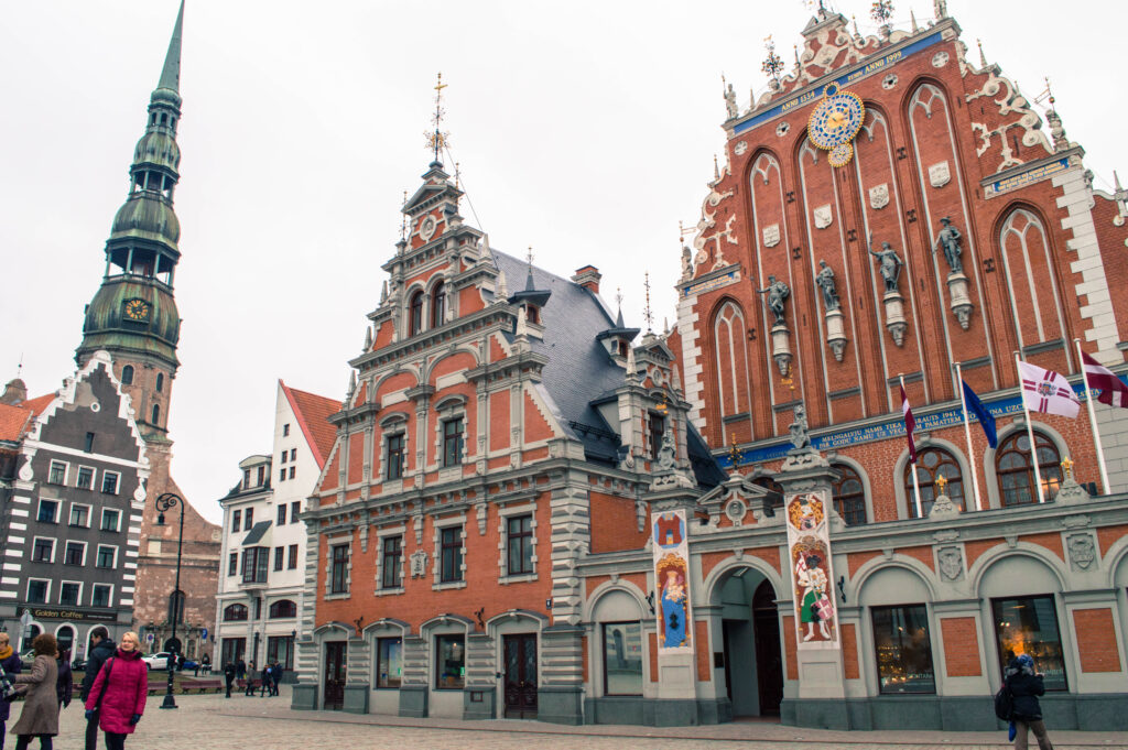Town Hall Square in Riga, where you'll find the Tourist Information Office
