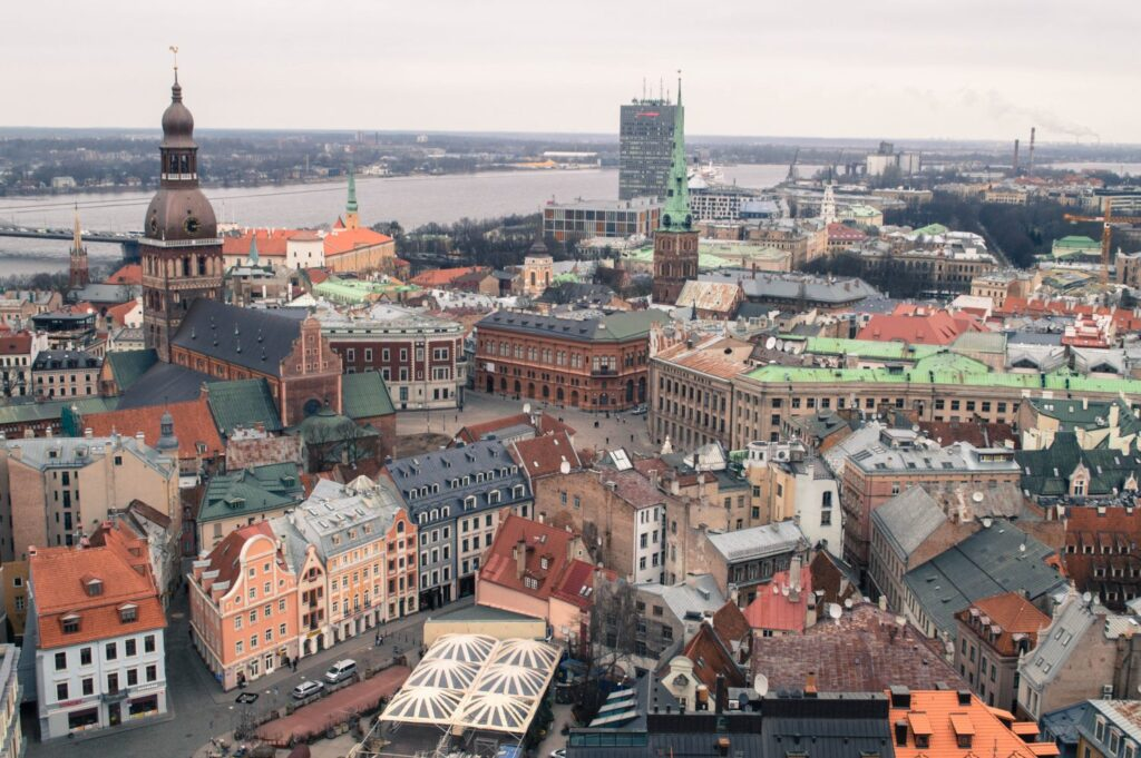 The view of Riga from St Peter's Church