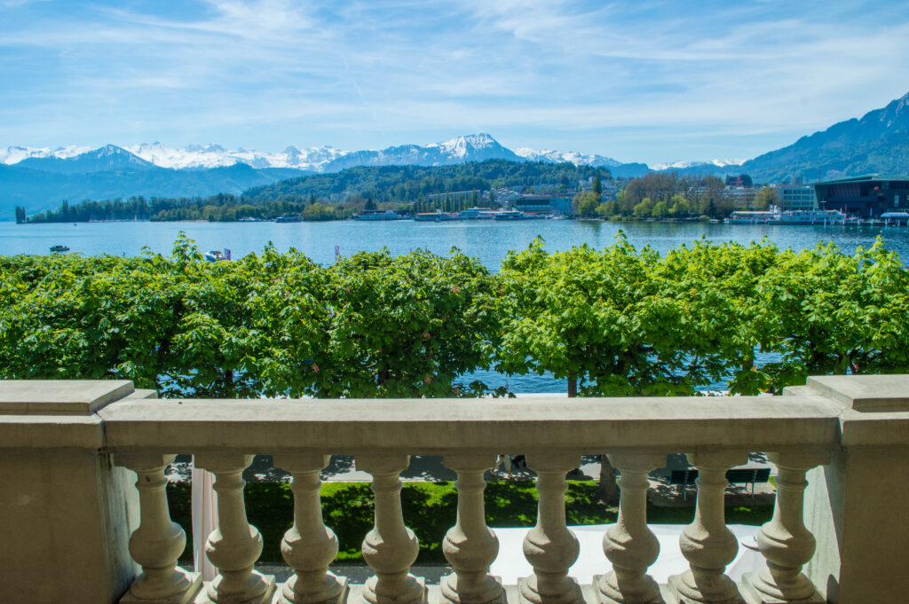 What a stunning and luxurious hotel in Lucerne, Switzerland! Take a peek into this beautiful luxury hotel that will make you feel like royalty.