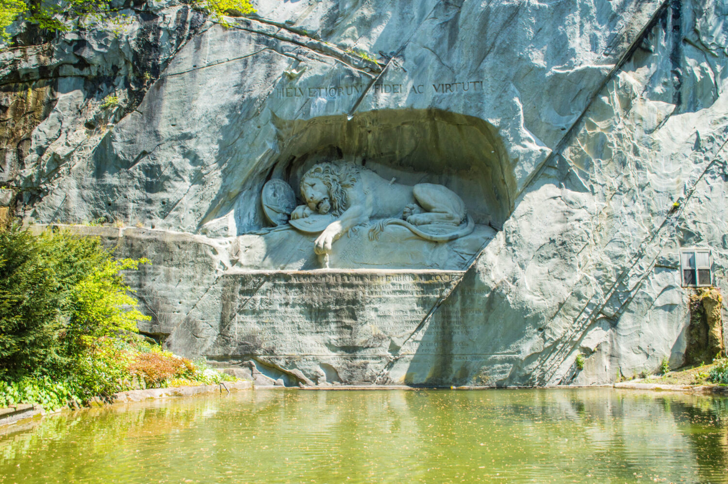 The famous Lion monument in Lucerne, Switzerland