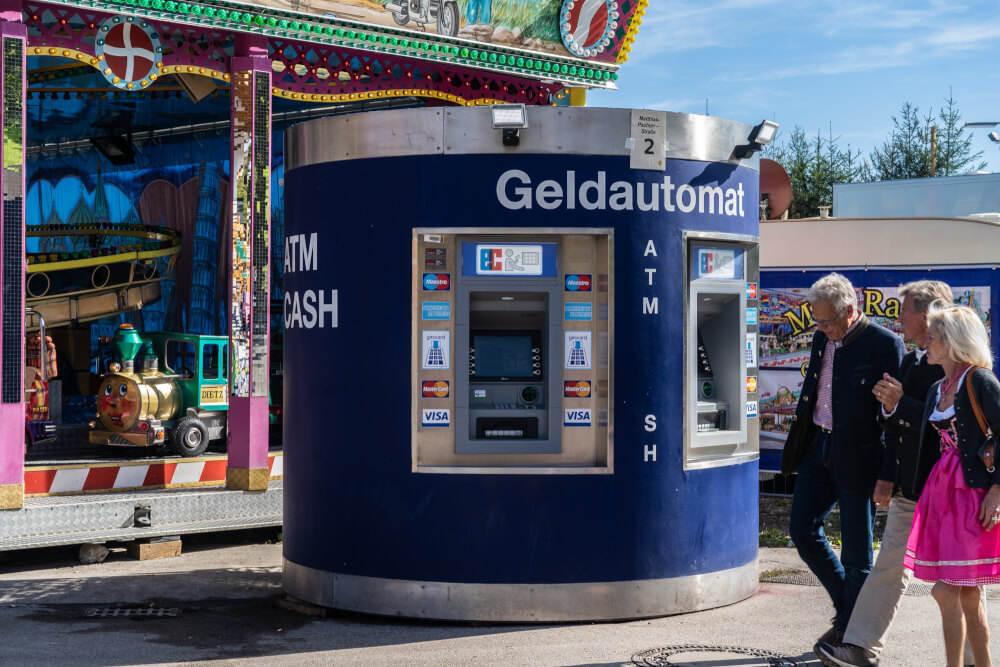 ATM at Oktoberfest in Munich, Germany