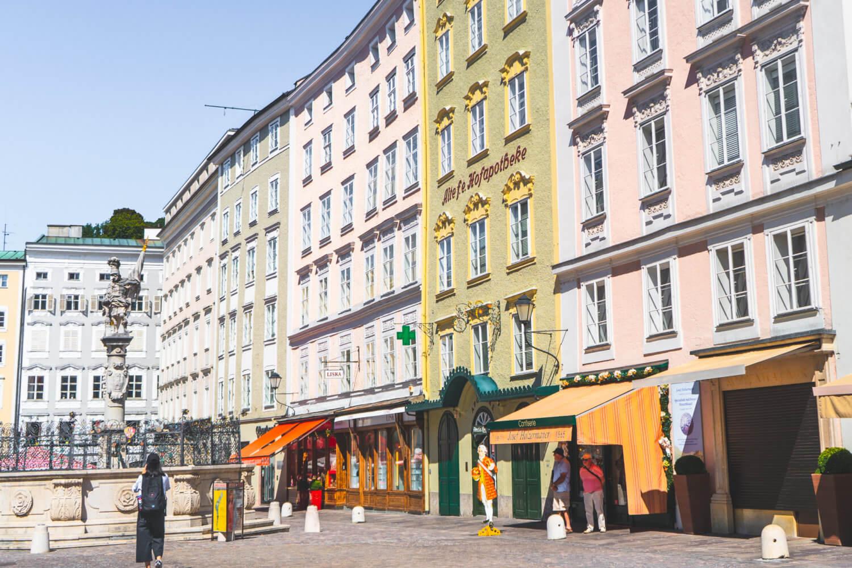 Alte Markt in Salzburg, Austria