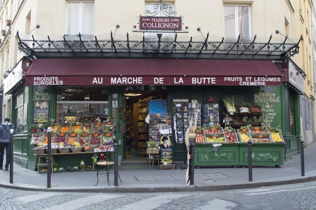 Grocery store in Montmartre as seen in Amelie