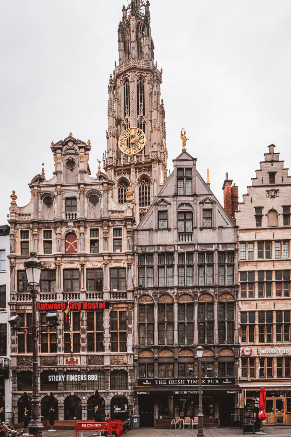 Guildhall buildings in Antwerp's Main Square Grote Markt