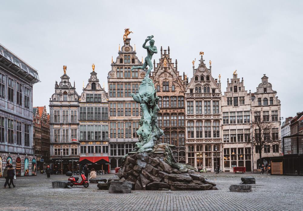 Grote Markt, the main square in Antwerp, Belgium