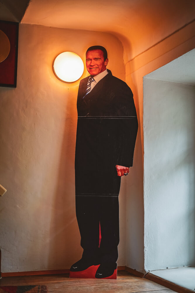 Cardboard cutout at the Arnold Schwarzenegger Museum in Thal, Austria