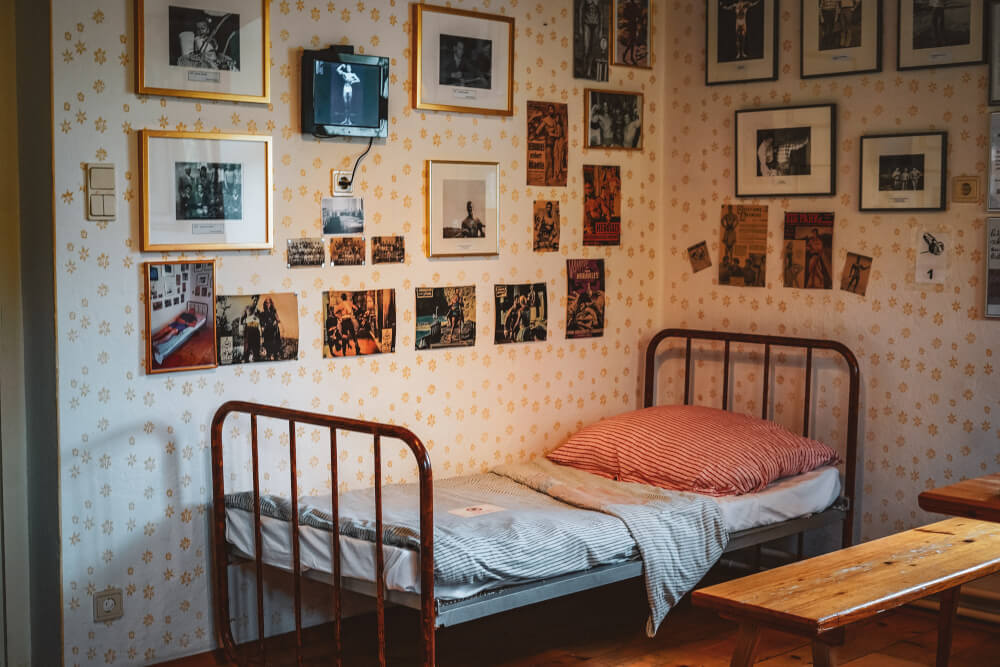 Childhood room at the Arnold Schwarzenegger Museum in Thal, Austria