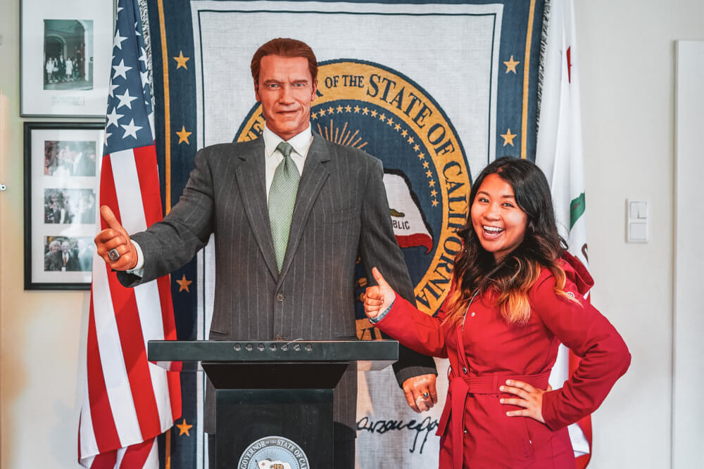 Arnie wax figure at the Arnold Schwarzenegger Museum in Thal, Austria