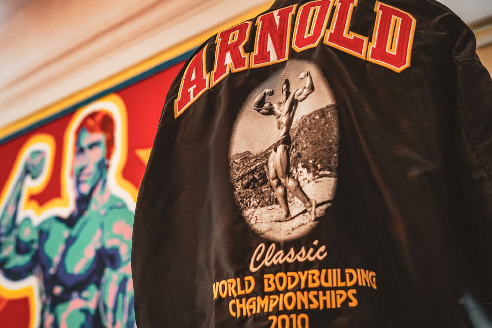 Bodybuilding memorabilia at the Arnold Schwarzenegger Museum in Thal, Austria