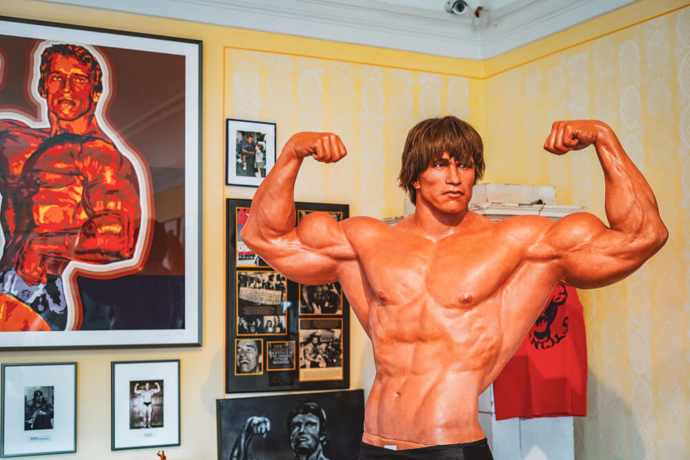 Wax figure at the Arnold Schwarzenegger Museum in Thal, Austria