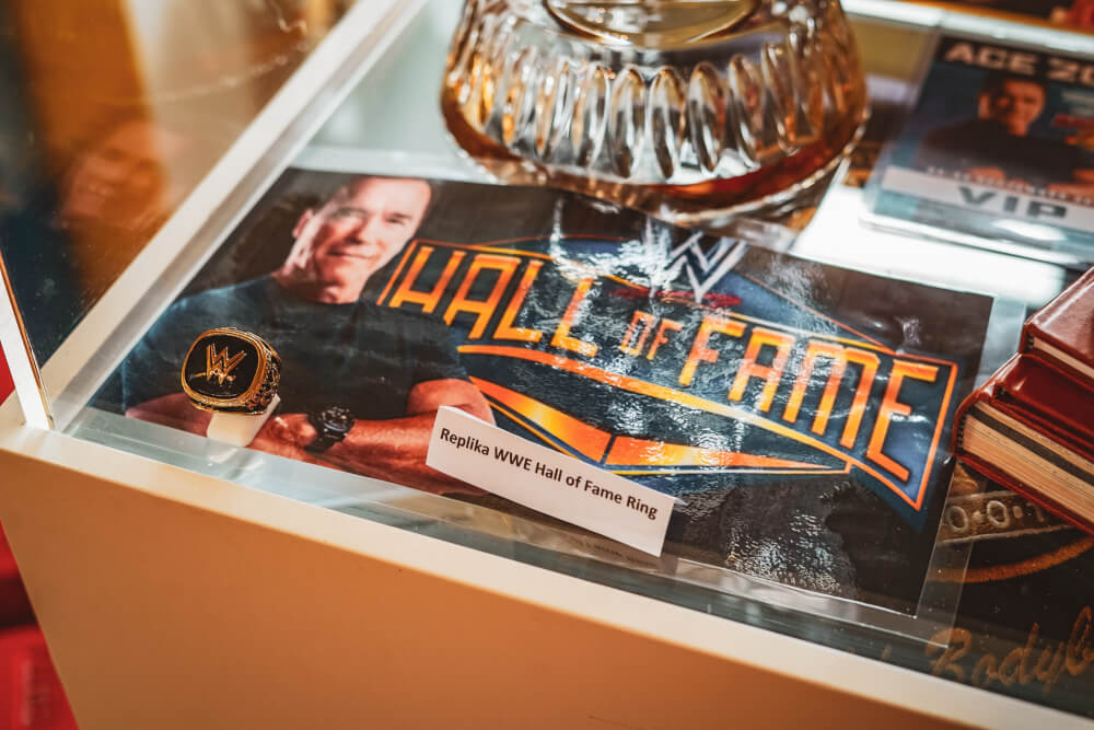 Wrestling memorabilia at the Arnold Schwarzenegger Museum in Thal, Austria