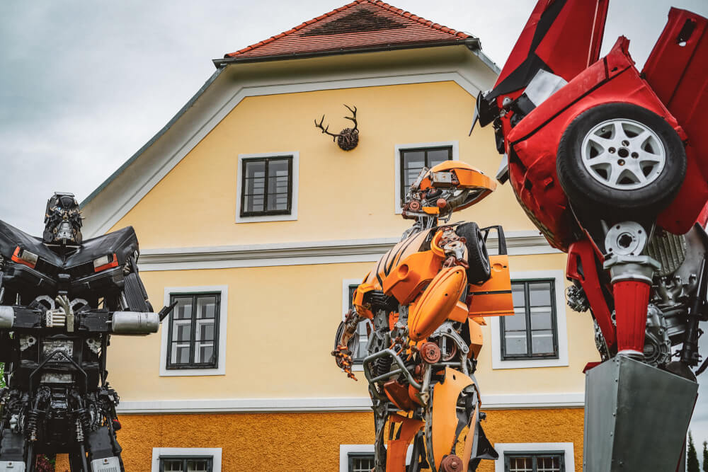 Transformers at the Arnold Schwarzenegger Museum in Thal, Austria