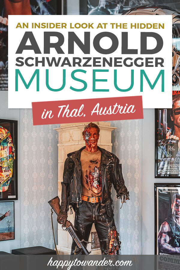 One of the best things to do in Austria is visit the Arnold Schwarzenegger Museum in Thal, near Graz. This amazing day trip from Graz is a must for any European bucket list for film lovers! This guide has all the details on this quirky Arnold Schwarzengger-themed museum. #arnoldschwarzenegger #austria #graz