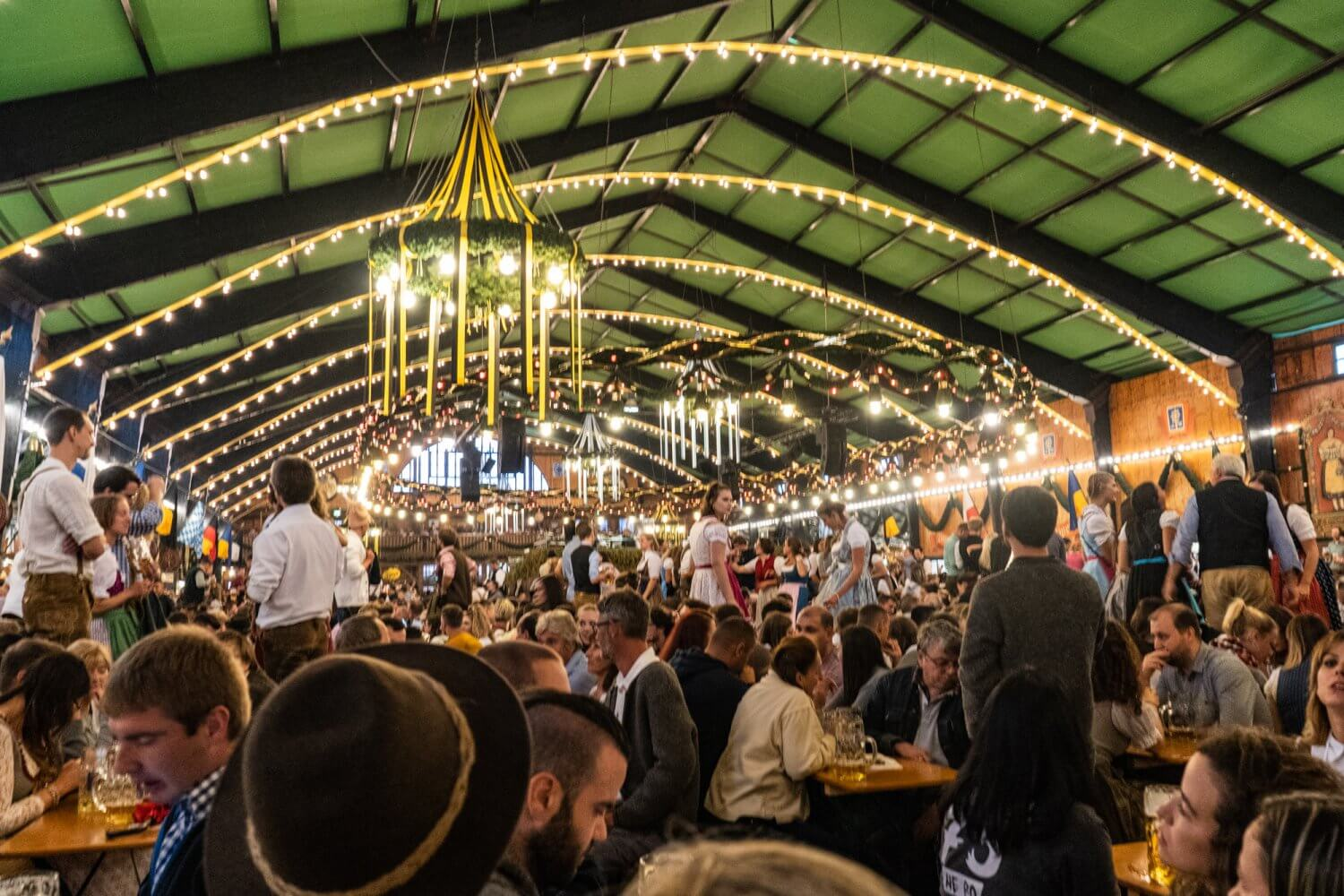 Augustiner tent at Oktoberfest in Munich, Germany