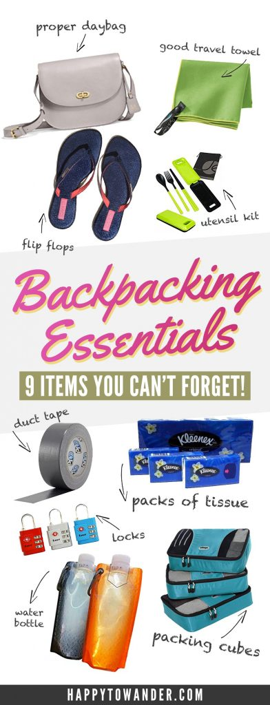 Unconventional essentials that you absolutely cannot forget to pack for your next backpacking trip! If you're looking for what to pack for a backpacking trip, be sure to pin this because it has a few suggestions that travellers often forget!