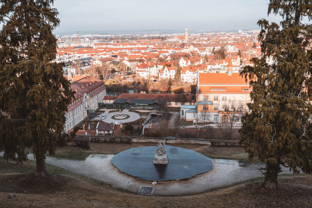 View from Michaelsberg Abbey in Bamberg, Germany