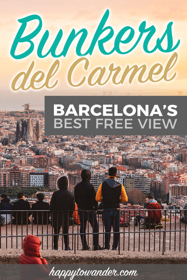 One of the best things to do in Barcelona, Spain! This Barcelona hidden gem is known as the Bunkers del Carmel and is the best place in Barcelona to watch sunset. A must do for your Barcelona bucket list, and one of the best free things to do in Barcelona as well. #spain #europe #travel
