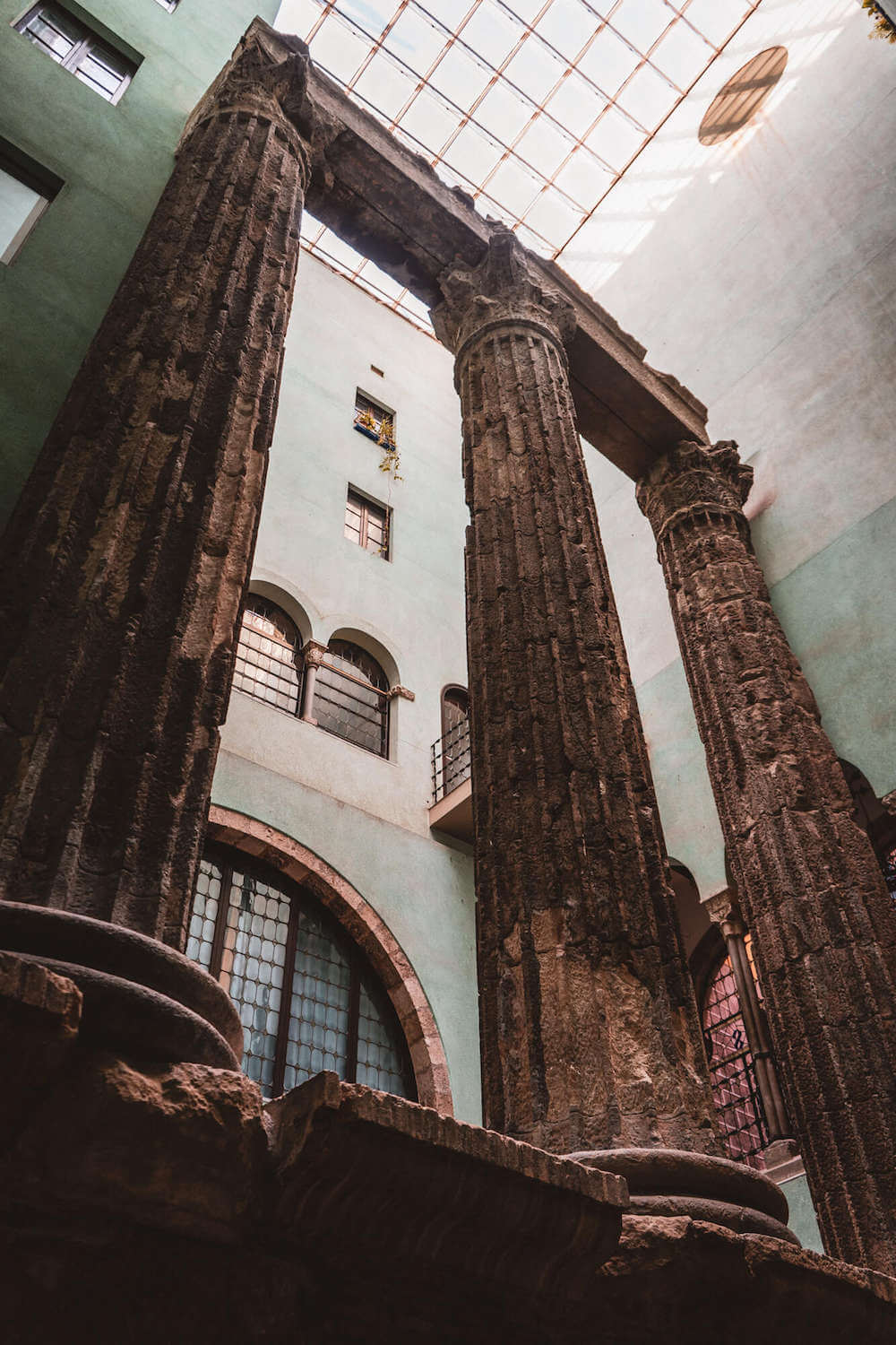 Temple of Augustus in Barcelona, Spain