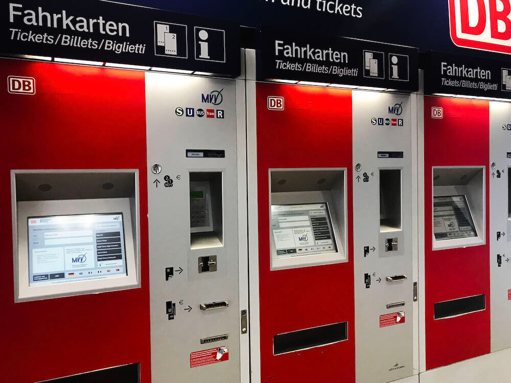 DB ticket machines in Bavaria, Germany