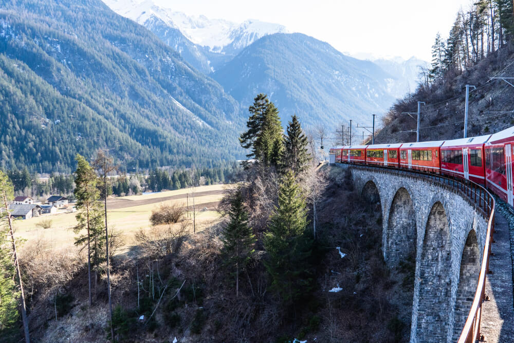 Going over the Landwasser Viaduct