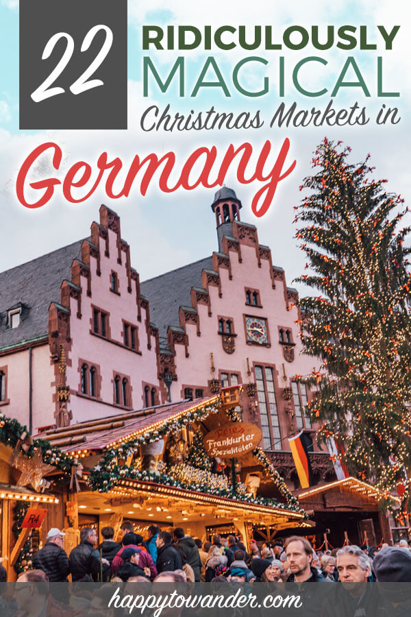 The most beautiful Christmas markets in Germany! These amazing Christmas markets are a must for any Germany trip. Includes German Christmas markets open early, open late and the best cities in Germany to visit for Christmas markets. If you're looking for Germany travel tips and inspiration along with German Christmas inspo, this post is a must-read! #germany #christmasmarkets #europe #travel
