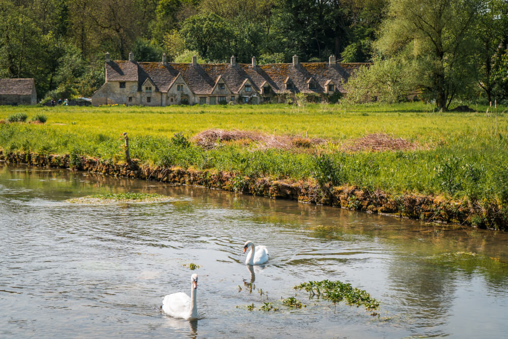 Arlington Row, in Bibury, a beautiful village in the Cotswolds