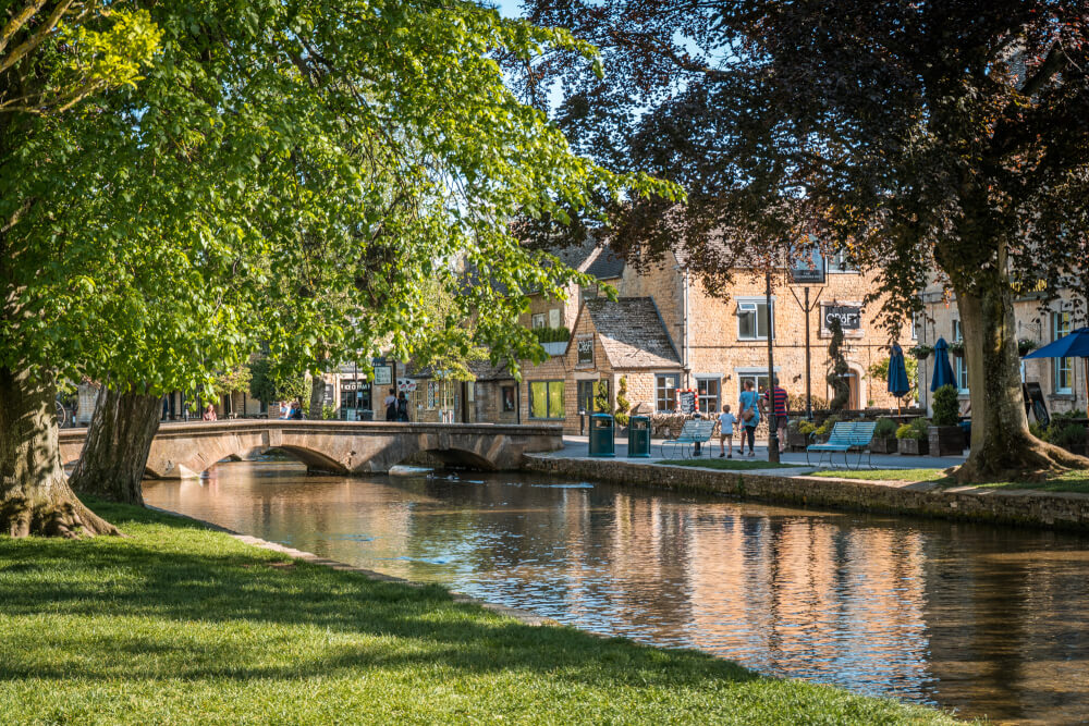 Bourton on the Water, known as the Venice of the Cotswolds in England