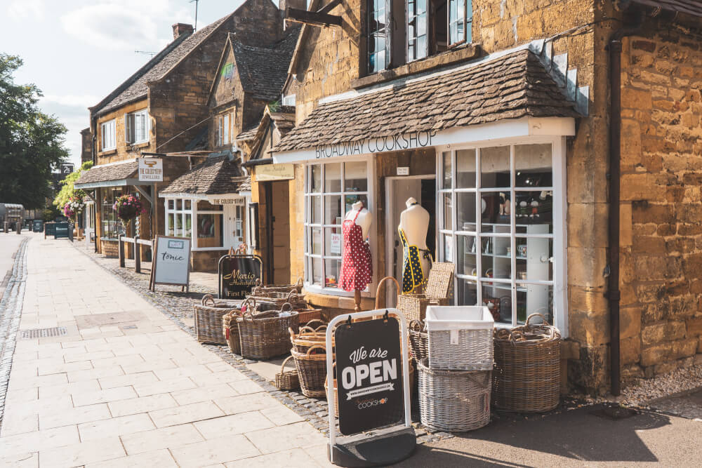 Independent boutique in Broadway, England in the Cotswolds