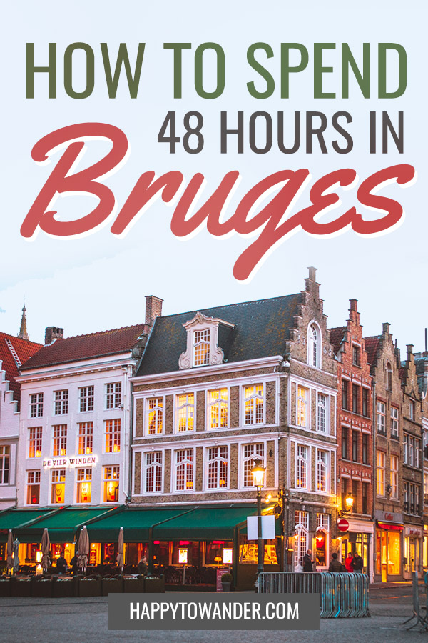 The best itinerary for 2 days in Bruges! A complete itinerary to follow that encompasses all of the main sights in Bruges. A must if you are visiting Belgium! #Belgium #Travel #Bruges