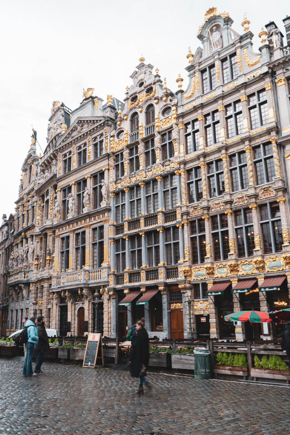 Guildhall buildings in Grand Place in Brussels, Belgium