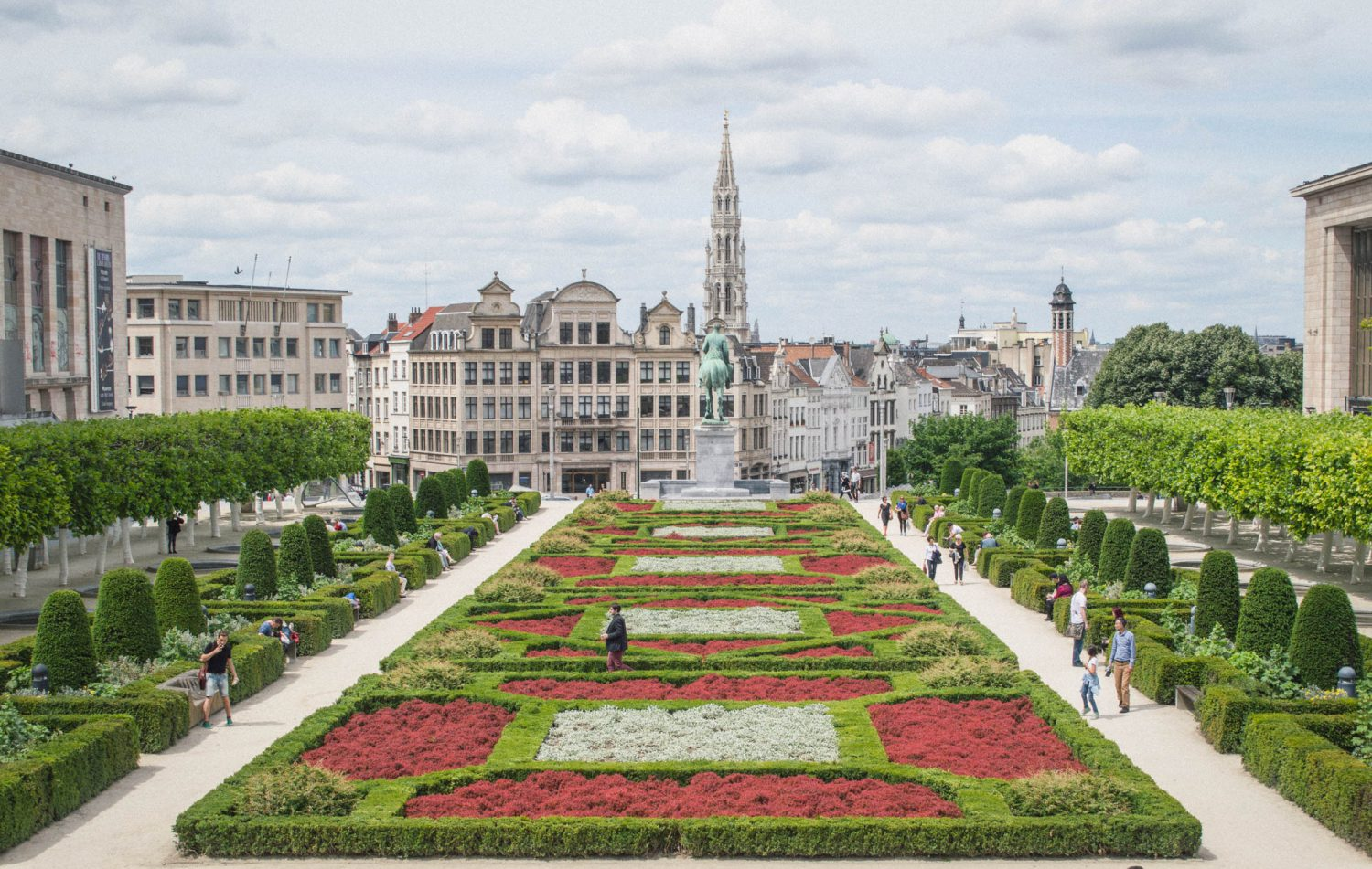 View of Mont des Arts in Brussels, Belgium