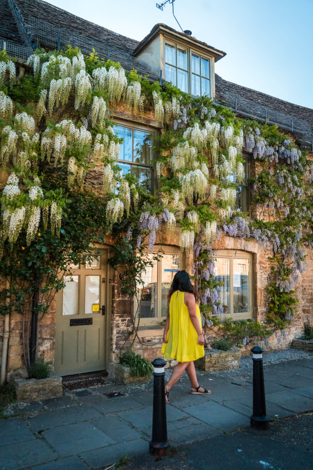 Wisteria in Burford, England, in the Cotswolds