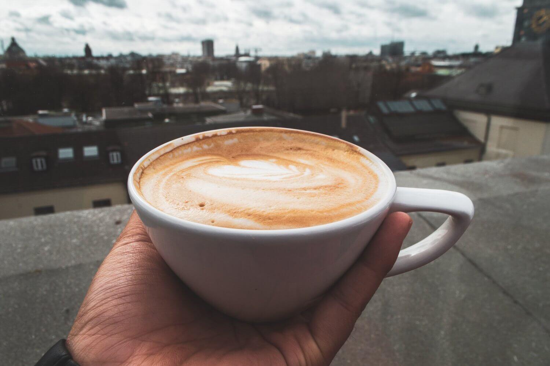 Cappuccino at Café im Vorhoelzer Forum