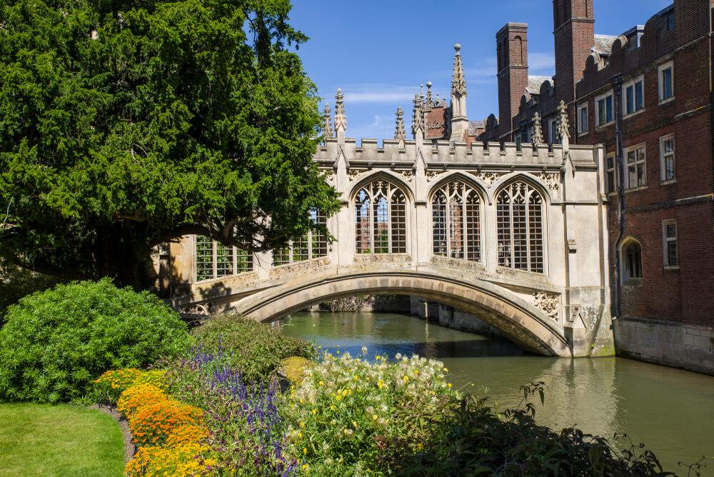 Beautiful summer day in Cambridge, England.