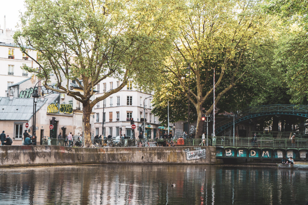 Canal St Martin in Paris, France