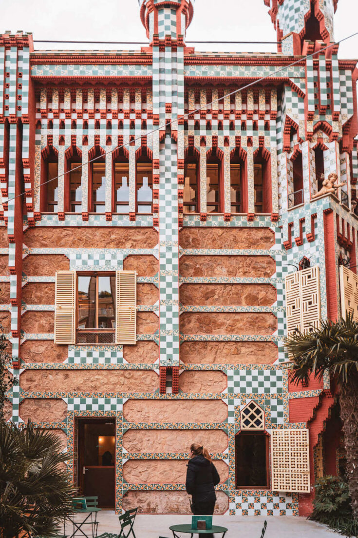 Casa Vicens from the courtyard in Barcelona, Spain