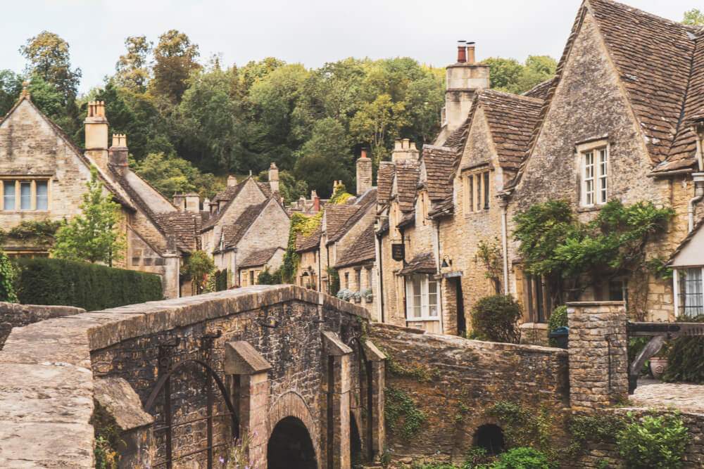 Castle Combe, England in the Cotswolds
