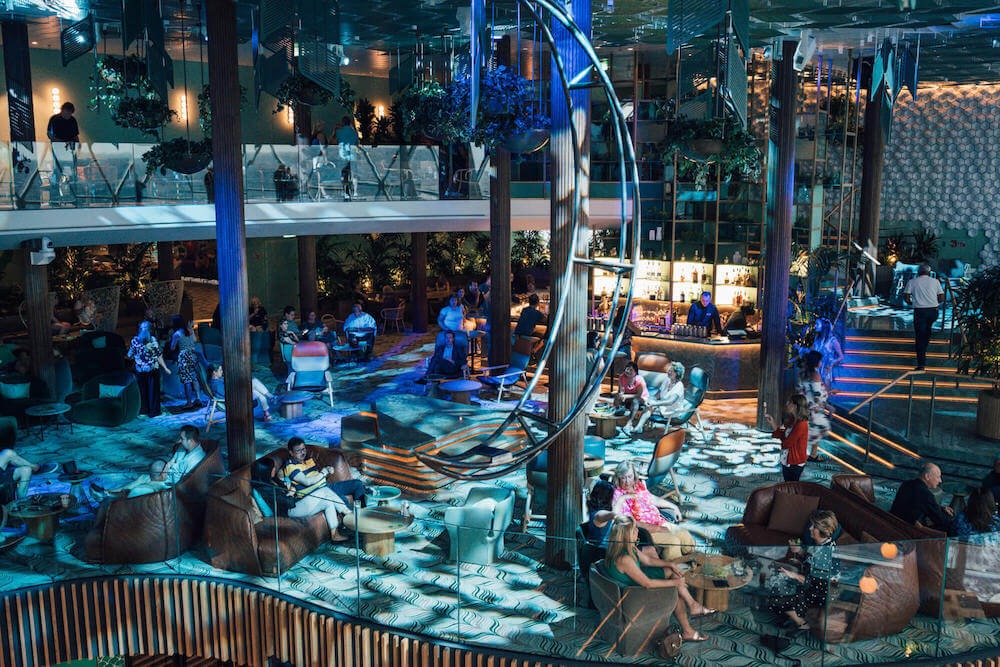 Eden by night on board the Celebrity Edge
